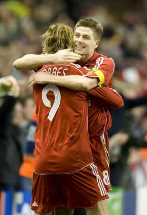 Liverpool FC- Gerrard and Fernando Torres