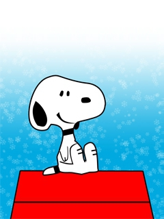 snoopy sitting on roof